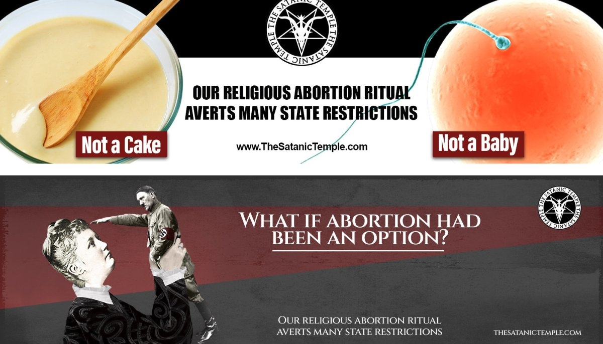 The Satanic Temple abortion billboards